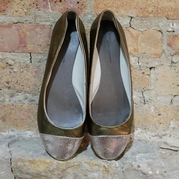 10695b301 Anthropologie Shoes - Anthropologie Pilcro Metallic Ballet Flats